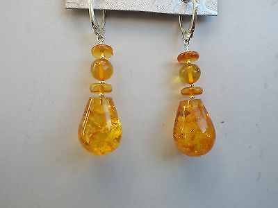 Natural Baltic amber pair of earrings - 9.8 grams
