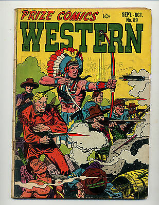 "Prize Comics Western #89  [1951 Gd]  ""the Last Of The Crazy Dogs!"""