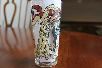 1976 Wile E Coyote Road Runner Slingshot Pepsi Collector Glass Cup Warner Bros.
