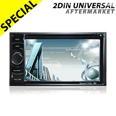 "6.2"" Double din car GPS navigation DVD player radio stereo head unit bluetooth"