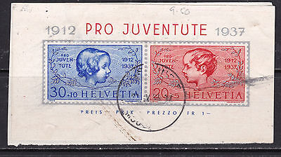 Switzerland - 1937 Pro Juventute Miniature Sheet Used (Swi 2610 1)