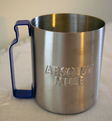 ABSOLUT VODKA Metal Mule Mug Cup Promotional Swag Rare Collectible Alcohol Promo