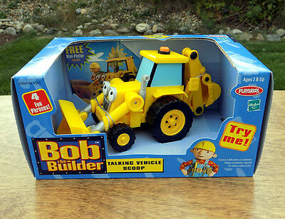 Bob-the-Builder-TALKING-SCOOP-Digger-BackHoe-Construction-Truck-Toy-Rare-NEW
