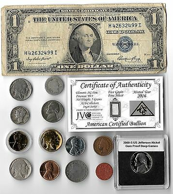 Silver Dollar Barber Mercury Antique Indian Liberty WWII War Coin Collection Lot