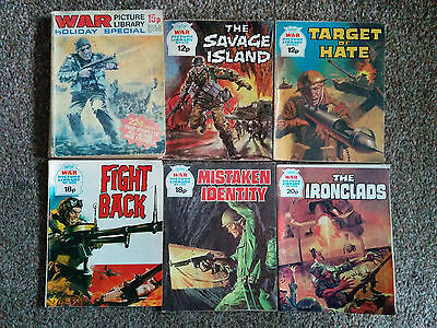 Vintage WAR Picture Library comics - 5 in total + one Holiday Special