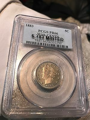 1883 5C with CENTS PR66 PCG