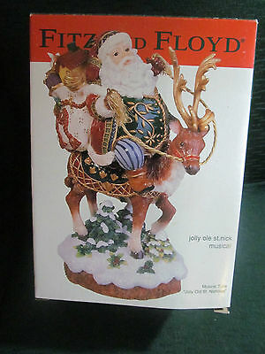 Fitz & Floyd Jolly Ole St Nick Musical with Original Box