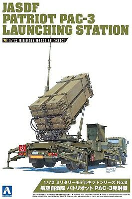 JASDF Patriot PAC-3 Launching Station Flugabwehr 1:72 Model Kit Aoshima 009956
