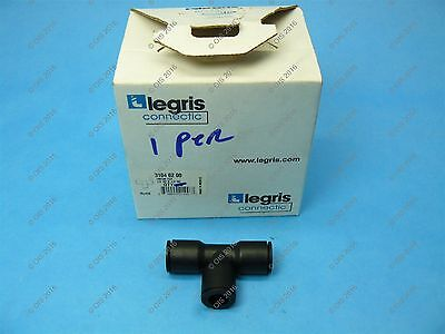 "Legris 3104 62 00 Push-In Union Tee 1/2"" Tube x 1/2"" Tube x 1/2"" Tube Nylon"