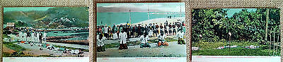 3 Postcard Lot Chinese Execution Soldiers Pirates Heads On Stick Decapitation