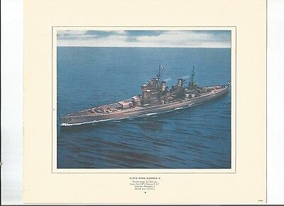 World War Ii H.m.s King George V  Battleship Issued 1940's By Canada Starch Co