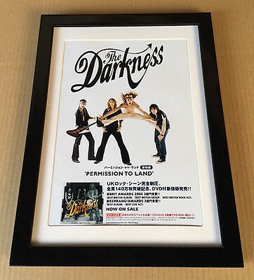 2004 The Darkness Permission To Land JAPAN album promo mini poster AD FRAMED 05r