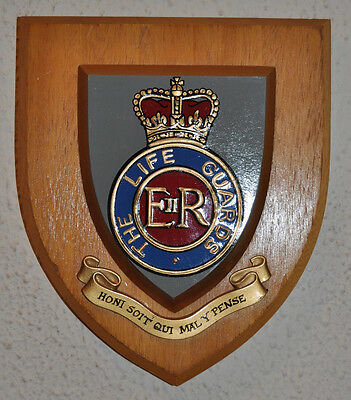 The Life Guards regimental mess wall plaque crest shield LG British Army