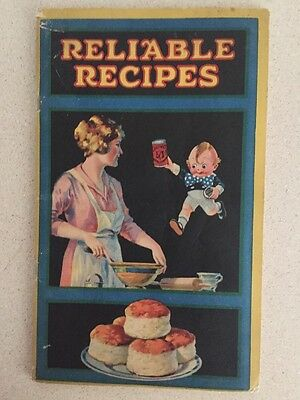 Antique Calumet Baking Powder Recipes Book 1930s Complete Colored Pictures Nice
