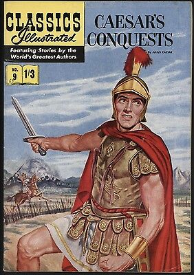 CLASSICS ILLUSTRATED #9 1st UK EDITIONHRN 129 FIN 12 WHITE PAGES! F/VF 7.0