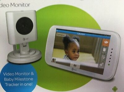 """AT&T Smart Link 4.3"""" Touch Screen Video Baby Monitor mhealth Wi-Fi"""