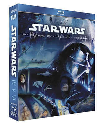 Cofanetto Blu Ray Star Wars 4 5 6 Trilogia Nuovo Starwars Bluray 3 Film