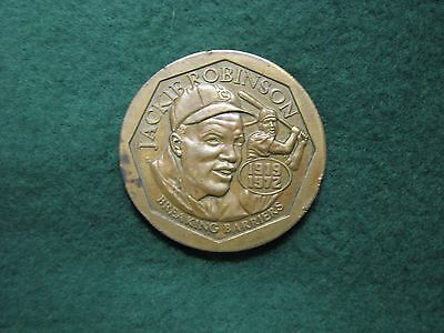 """1947-1997 Jackie Robinson Breaking The Color Barrier 1 1/2"""" Bronze Medal  50th"""