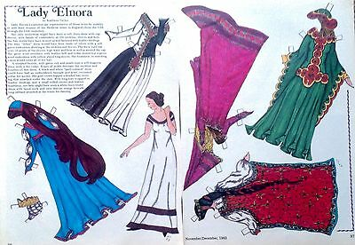 Lady Elnora from Medieval Times Magazine Paper Doll,1983, By Kathleen Taylor