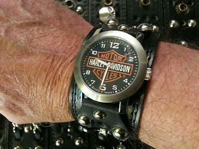Leather_Harley Biker_Motorcycle_Pirates_Skulls_Swords_Studs_watchband_band only
