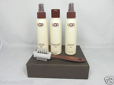 New Ugg Care Kit Sheepskin Cleaner Protector Refresher Cleaning Brush Original