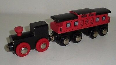 Circo Wooden Toy Trains,Engine & Caboose