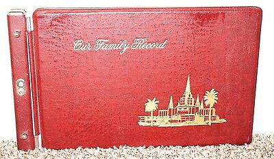 LDS Mormon Book of Remembrance Red Our Family Record History Genealogy +Charts