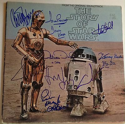 STAR WARS CAST W/ George Lucas Harrison Ford SIGNED ALBUM PSA DNA