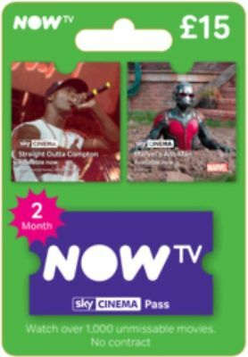 NOW TV Movies 2 Month Sky Cinema Pass INSTANT DELIVERY
