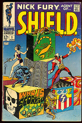 Nick Fury Agent Of S.h.i.e.l.d. #1 Steranko Cover Marvel Comics