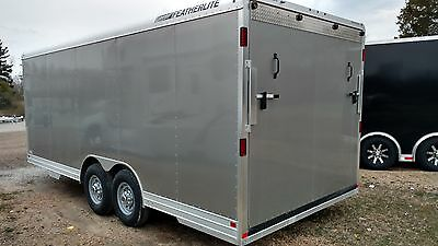 2016 Featherlite 20' Silver  Aluminum Car Trailer Model 4926