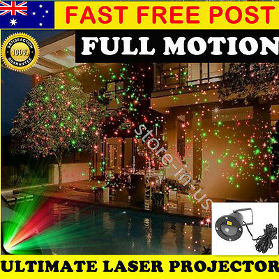 Star Light RED GREEN Shower Laser LED MOTION Projector Outdoor Garden Christmas