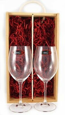Two Red Wine Riedel Crystal Glasses