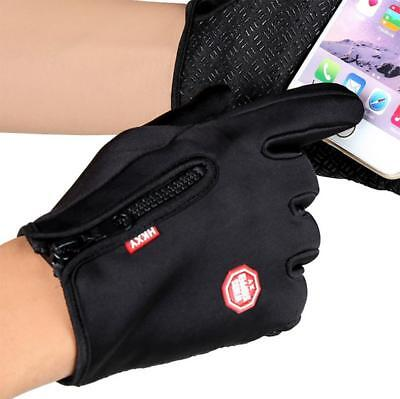 Touchscreen Windproof Lined Gloves Unisex Cycling Running Jogging Motorcycle NEW