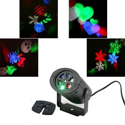 In/Outdoor Multi-color Moving Sparkling LED Snowflake Laser Projector Wall Lamp