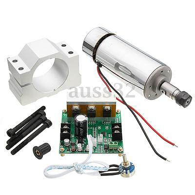 CNC Spindle Motor ER11 0.4KW & Mach3 PWM speed controller & Mount engraving Kit