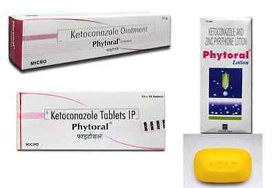PHYTORAL Ketoconazole Lotion/Tablets/Ointment/Soap Hair Fall Treatment Jock Itch