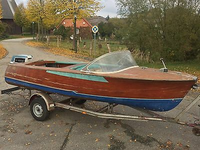 Cranchi IL5 Holzboot Runaboat Holzmotorboot Evinrude 40PS BigTwin ital.Klassiker