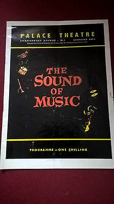 The Sound Of Music Programme - Palace Theatre London 1961-1970