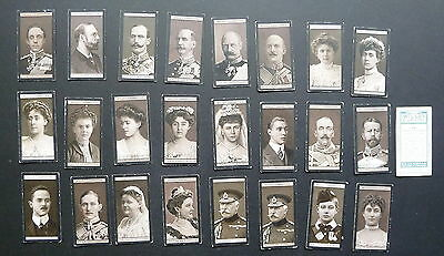 Cigarette Trade Cards: pt set  Will's Euro Royalty 1908