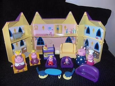 Peppa Pig Castle King Queen Wizard Lots Figures Toy Playset