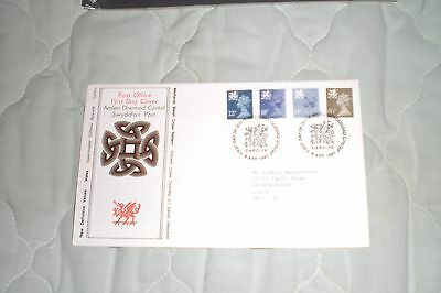 Wales 2 First Day Covers-Definitives  Postmark Edinburgh/wales