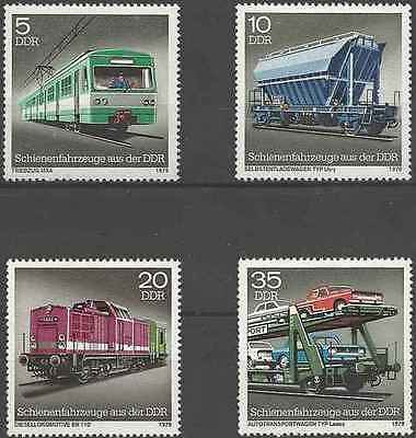 Timbres Trains Allemagne RDA 2079/82 ** lot 16901