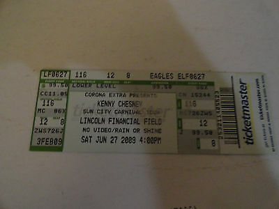 Kenny Chesney - June 27  2009 Vintage Ticket Stub - Lincoln Filed Phial Pa  - Ec