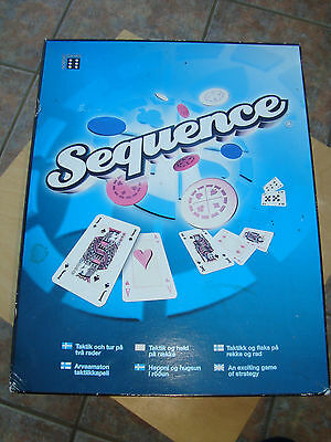 'Sequence' Board game 2 players or 2 teams ideal for Christmas unused condition