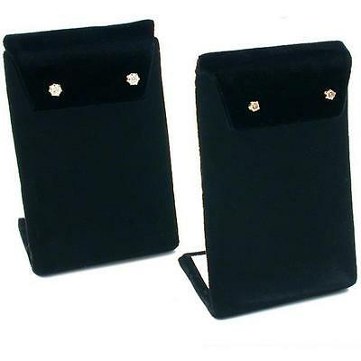 "Earring Display Stand Black Velvet 3 3/8"" 2Pcs"