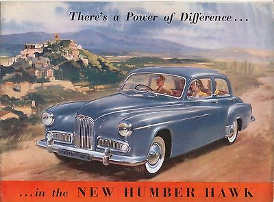 Humber Hawk Mk VI Original Export Sales Brochure No. 3147/EX/74/10 circa 1954