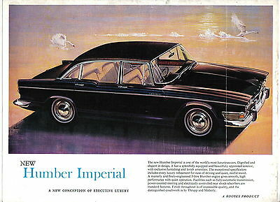 Humber Imperial Original UK single sheet  Brochure Pub. No. 1103/H 1964