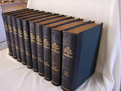 Century Dictionary & Cyclopedia 1906~10 Vol.Set~Leather Bound Vol.10 Maps&Atlas'