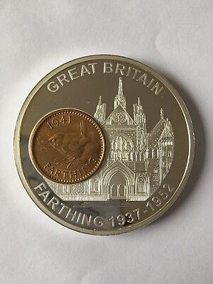 History Of British Currency Commemorating The Farthing 1937-1952